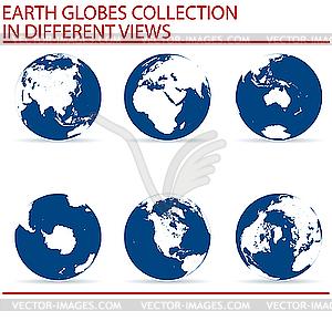 Set von Erde-Globen - Klipart
