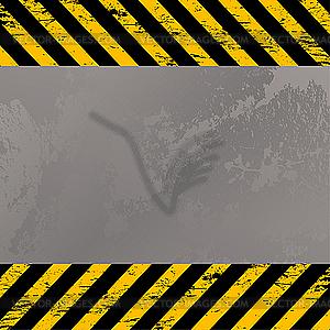 Aufbau-Warnstreifen - Vector-Clipart EPS