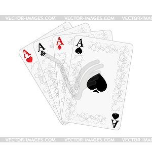 Spielkarten - Stock Vektorgrafik