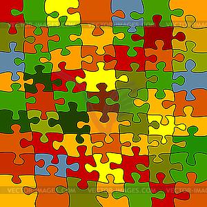 Puzzle-Hintergrund - Vektor-Clipart