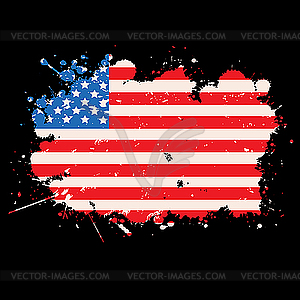 Grunge-Flagge der USA - vektorisierte Grafik