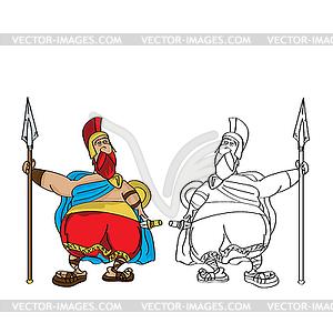 Fat römischen Karikatur - Vektor-Clipart / Vektor-Bild