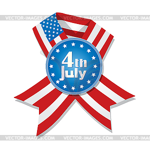 4. Juli Abzeichen - Royalty-Free Clipart
