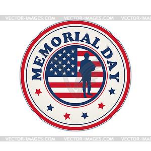 Stempel für Memorial Day - vektorisierte Grafik