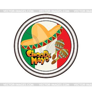 Set von Stempeln zu Cinco de Mayo - Royalty-Free Clipart