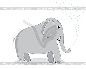 Elefant - Vektorgrafik-Design