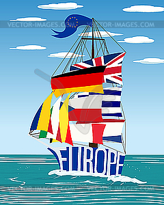 EU-Schiff - Clipart