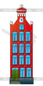 Niederländische Haus - Vector Clip Art