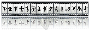 Film mit Kindern-Silhouetten - Vector-Clipart EPS