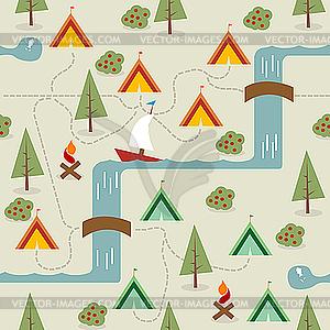 Camping-Karte - Vector-Abbildung