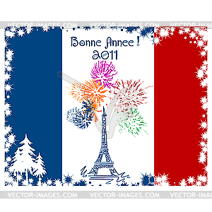 Eiffelturm-Karte - Vektorabbildung
