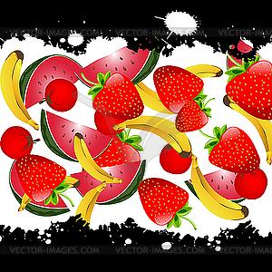 Obst-Hintergrund - Vektorgrafik