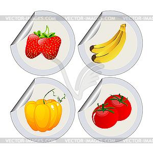 Obst und Gemüse - Vector-Clipart EPS
