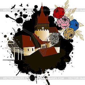Mittelalterliche Burg - Vector-Design