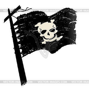 Piratenflagge - Vector-Clipart / Vektor-Bild