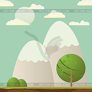Bergen-Landschaft - Vektor-Clipart / Vektorgrafik