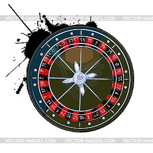Altes Roulette-Rad - Vector-Clipart / Vektorgrafik