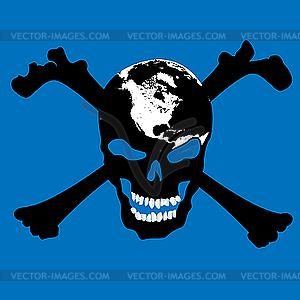 Piratenschädel - Vektorabbildung