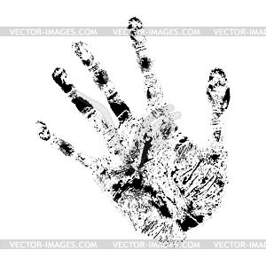 Realistischer Handabdruck - Clipart-Bild