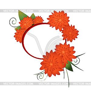 Muster mit roten Blüten - Royalty-Free Vektor-Clipart