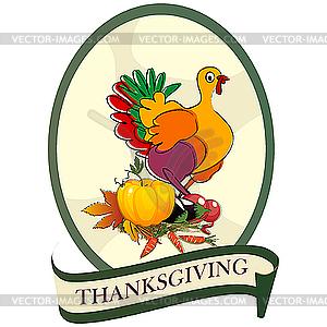 Aufkleber für Thanksgiving Day - Vektor-Clipart EPS