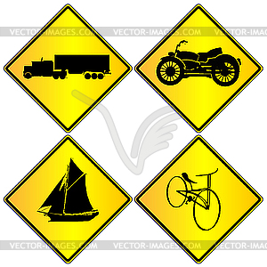 Transport-Zeichen - Vector Clip Art
