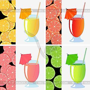 Fruchtsäfte - Vektor-Bild