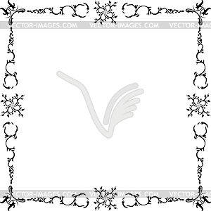 Black and white frame - vector image