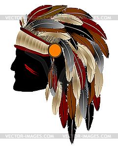Amerikanischer Indianer - Royalty-Free Clipart