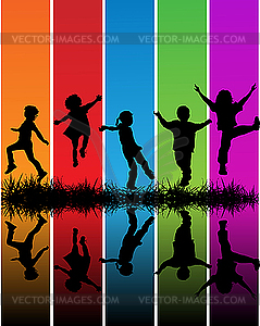 Kinder - Stock Vektor-Bild