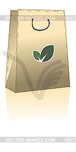 Öco-Einkaufstasche - Vektor-Klipart
