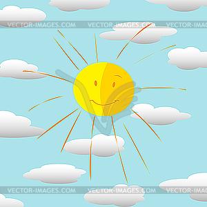 Glückliche Sonne - Vektor-Klipart