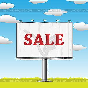 Billboard mit dem Verkauf-Aufschrift - vektorisiertes Clipart
