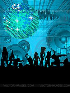 Tanz-Party-Vorlage - Vector-Clipart