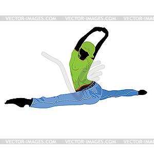 Tanzendes Mädchen - Vektor-Clipart EPS