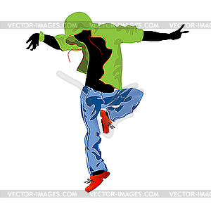 Groove-Tänzer - Stock Vektor-Bild