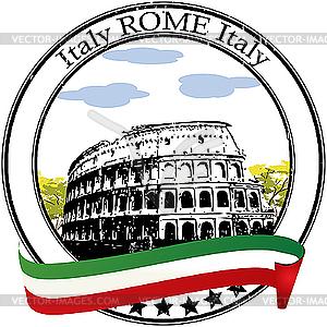 Stempel für Rom - vektorisierte Abbildung