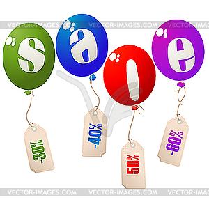 Luftballons - zum Verkauf - vektorisiertes Clipart