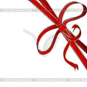 Rote Ecke aus Band - vektorisiertes Clipart