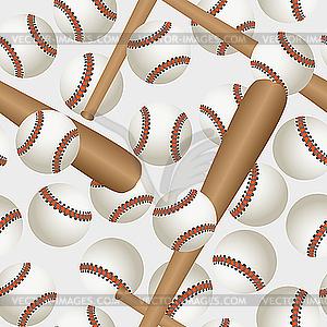 Baseball-Muster - farbige Vektorgrafik