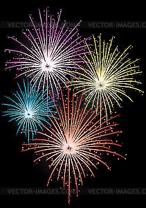 Stern-Feuerwerk - Clipart-Bild