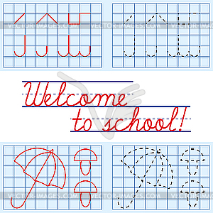 Welcome to school background - vector image