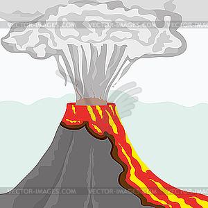 Vulkan - farbige Vektorgrafik