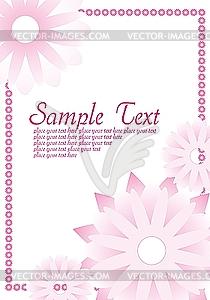 Rosiges Muster mit Blumen - Vektor Clip Art