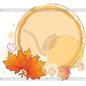 Runder Herbst-Rahmen - vektorisiertes Design