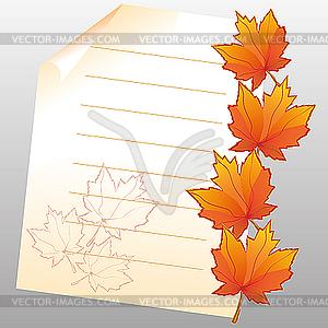 Herbstblätter - Clipart-Bild