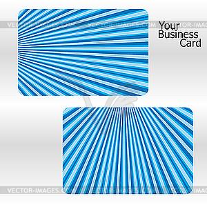 Blaue Visitenkarten mit Streifen - Royalty-Free Clipart