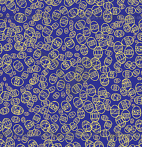 Blaues nahtloses Osternmuster - farbige Vektorgrafik