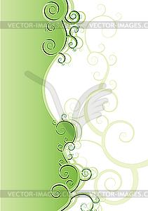 Florale Musterkarte - Vector-Design