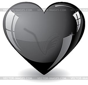 Schwarzes Herz - vektorisiertes Design